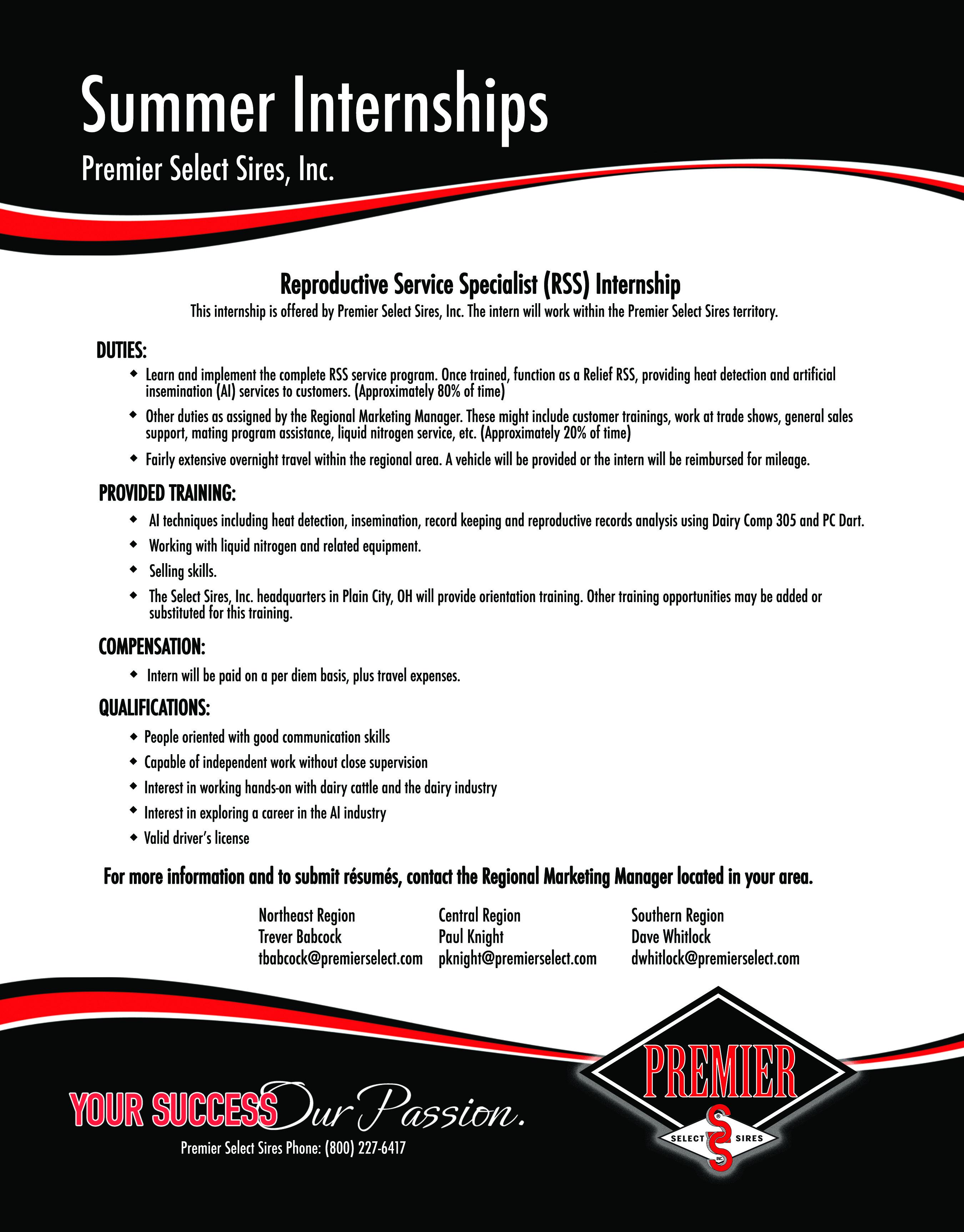 PSS Internship Flyer