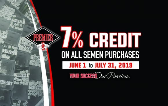 Premier Select Sires Offers 7 Percent Credit on Semen Purchases for Summer 2019