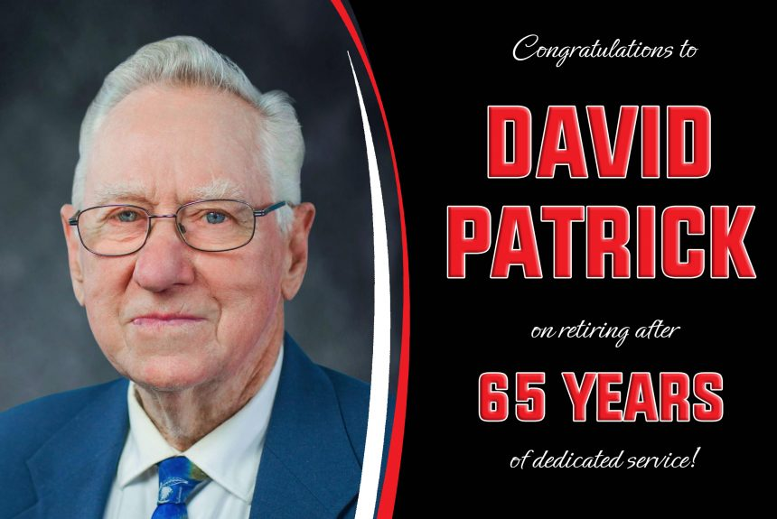 David Patrick Retires After 65 Years of Service